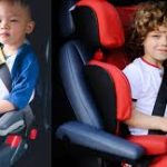 Affix Backless Booster Car Seat with cover