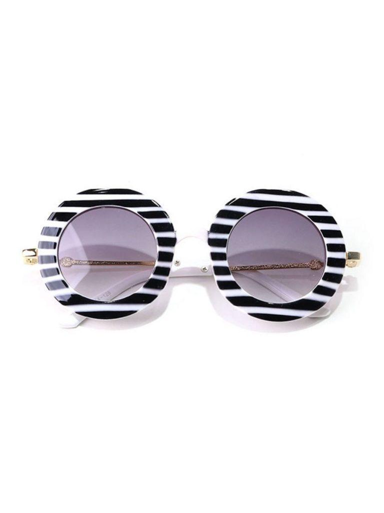Kid Round Striped Sunglasses